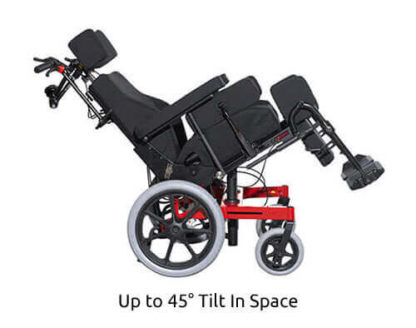 up to 45 recline Function Tilt In Space Wheelchair